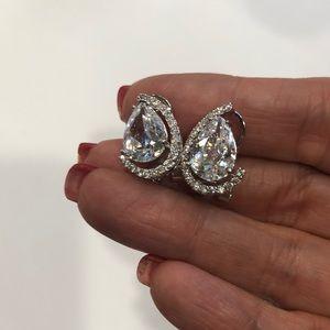 Cubic Zirconia and rhinestone earrings #G10